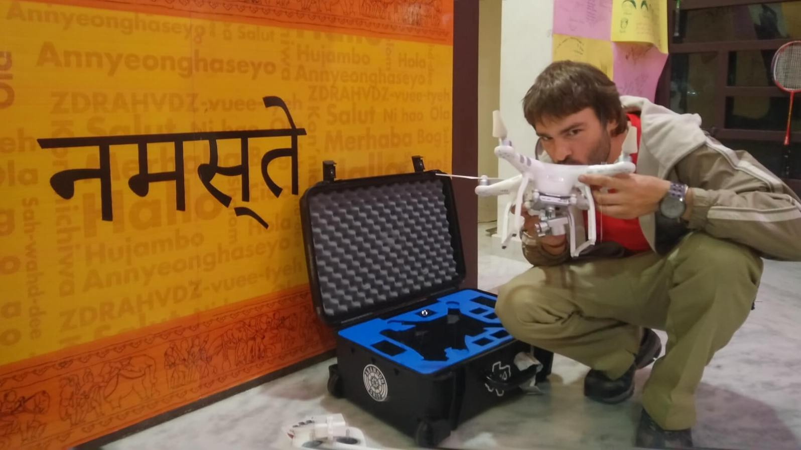 Derek gets reunited with his drone after being arrested in Khajuraho for filming the temples