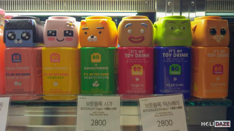 Even Korean juice bottles resemble cute cartoons