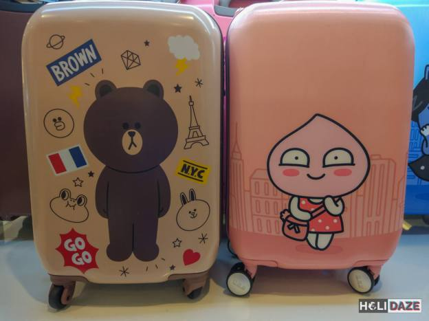 Korean cartoon suitcases