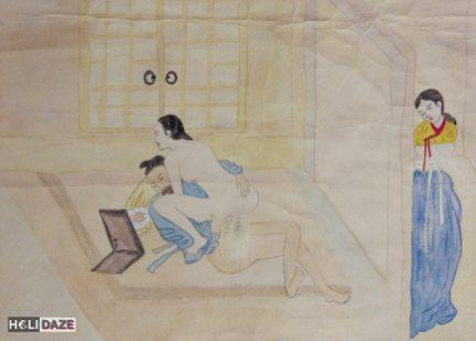 Chunwha erotic art at Love Castle Sex Museum in Gyeongju, South Korea