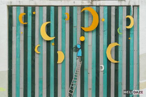 3D street art at Changdong Art Village in Masan, Korea