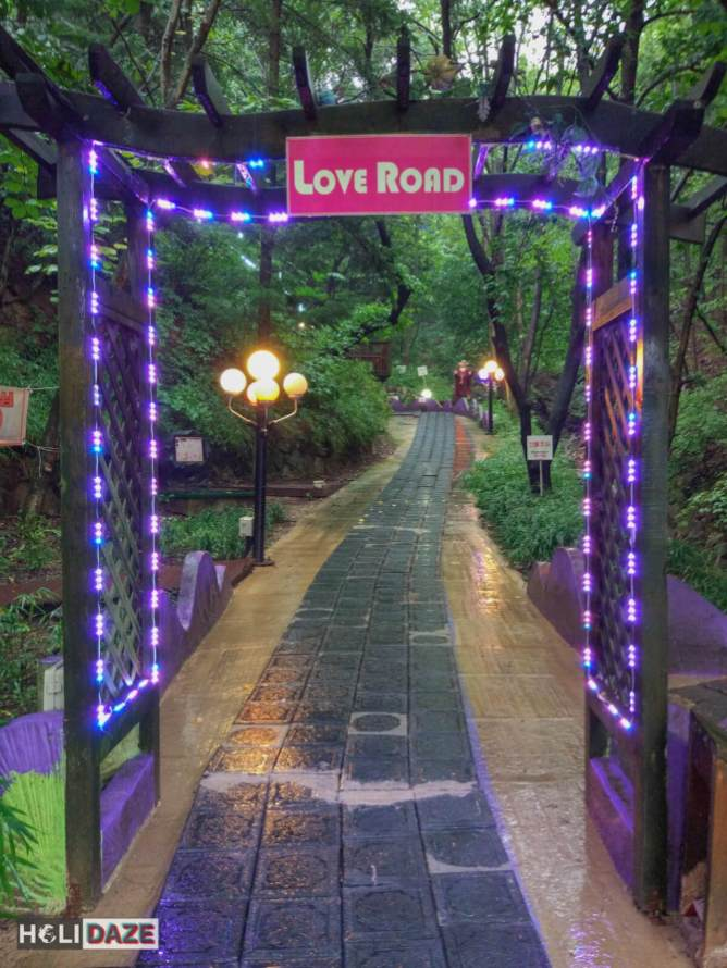 Love Road at the Love Castle in Gyeongju, South Korea