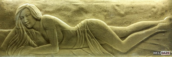 Ancient carving at the Love Castle Sex Museum in Gyeongju, South Korea