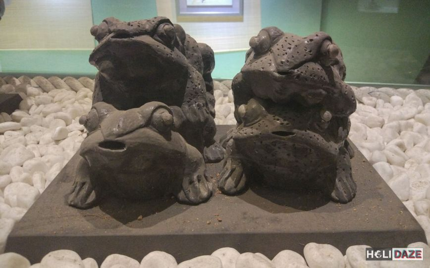 Sexual Korean carvings known as toewoo at the Love Castle Sex Museum in Gyeongju, South Korea