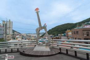 The guitar of Gamcheon Culture Village in Busan, South Korea