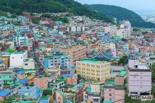 Gamcheon Culture Village is soooo colorful!=!