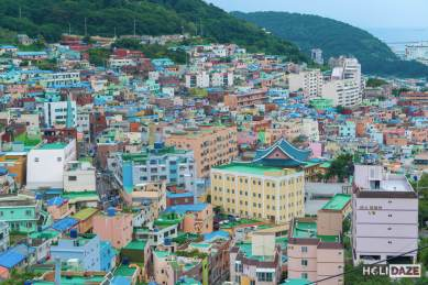 Gamcheon Culture Village is soooo colorful!=!