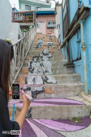 Approaching the top of the Stairs To See Stars in Gamcheon, Korea