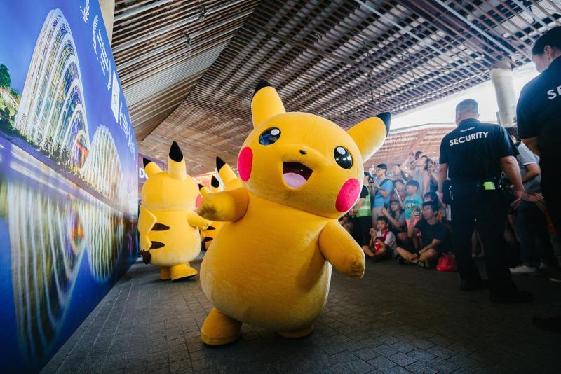 Yellow Pikachu mascot in Singapore