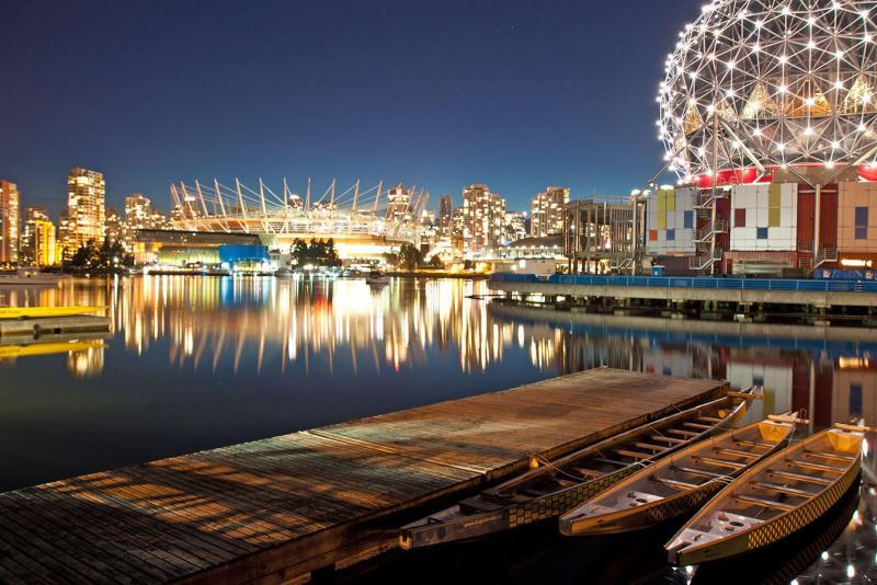 Dragon boats docked at Vancouver, Canada