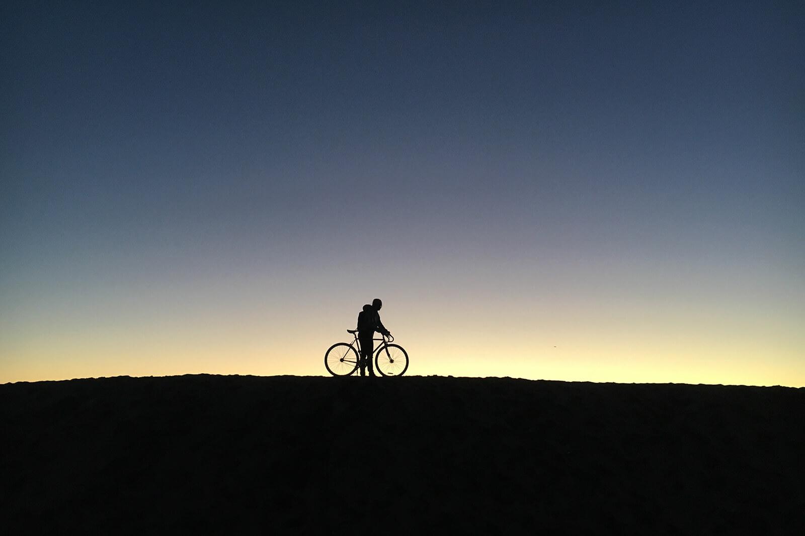 Sunset on the Marvin Braude Bike Trail, Manhattan Beach