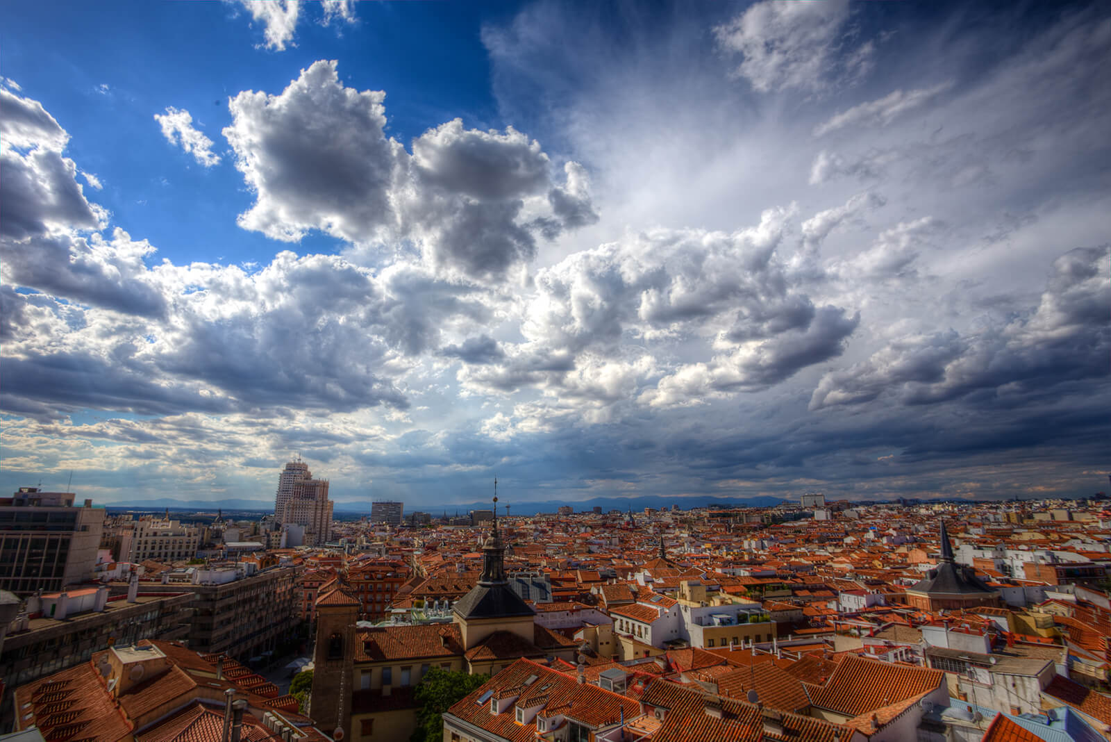 Rooftops of Madrid, Spain
