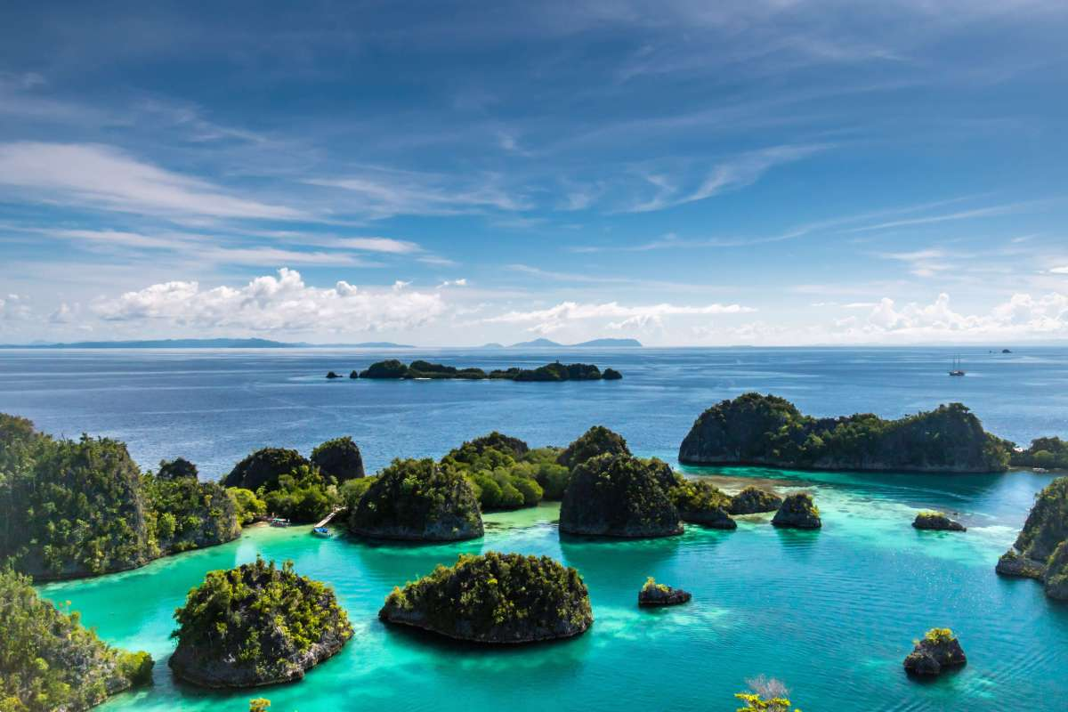 Pianemo karst islands of Raja Ampat, Indonesia