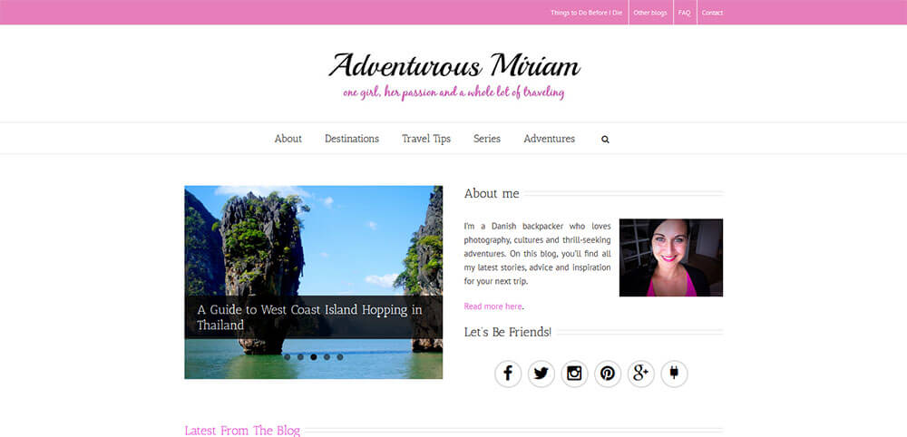 Best New Travel Blogs: Adventurous Miriam