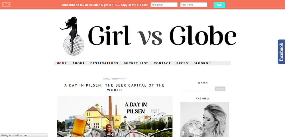 Best New Travel Blogs 2014: Girl vs Globe