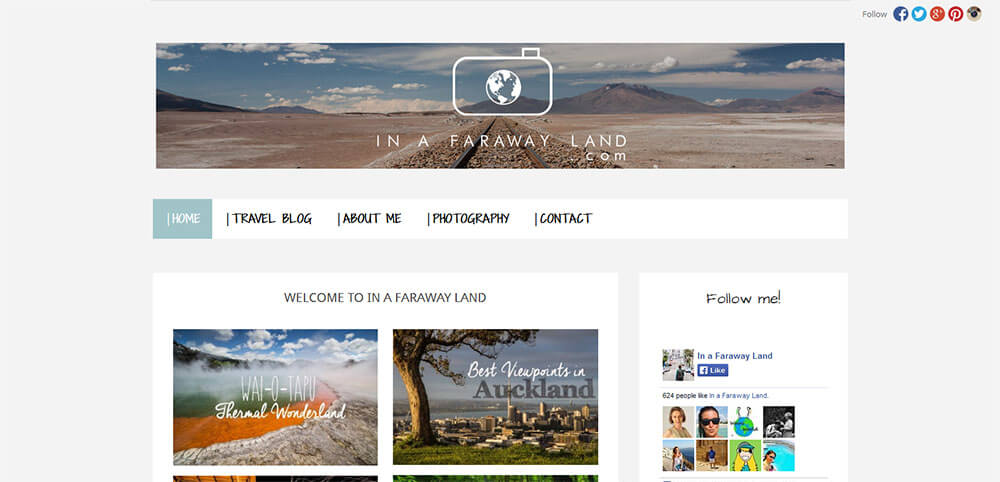 Best New Travel Blogs: In A Faraway Land