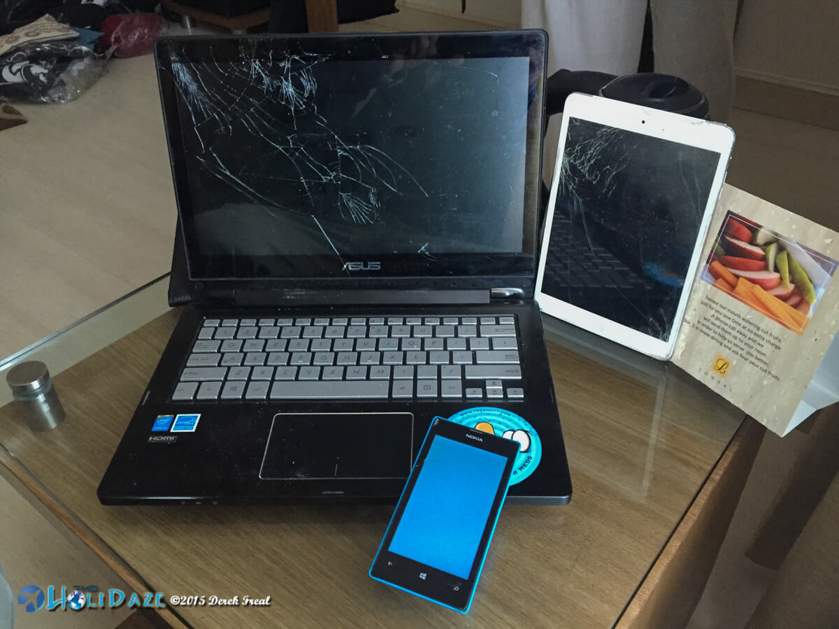 Broken electronics during the Rickshaw Run