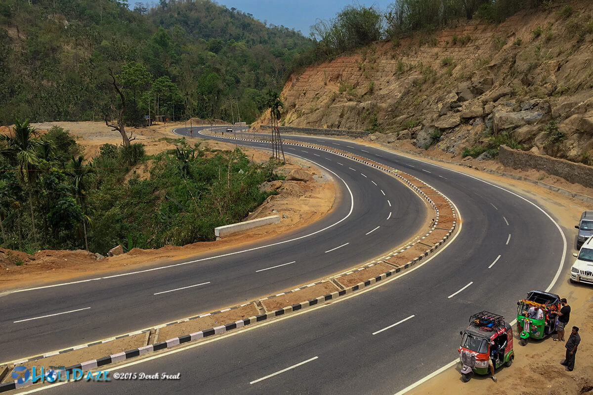 Scenic roads in Meghalya state, India
