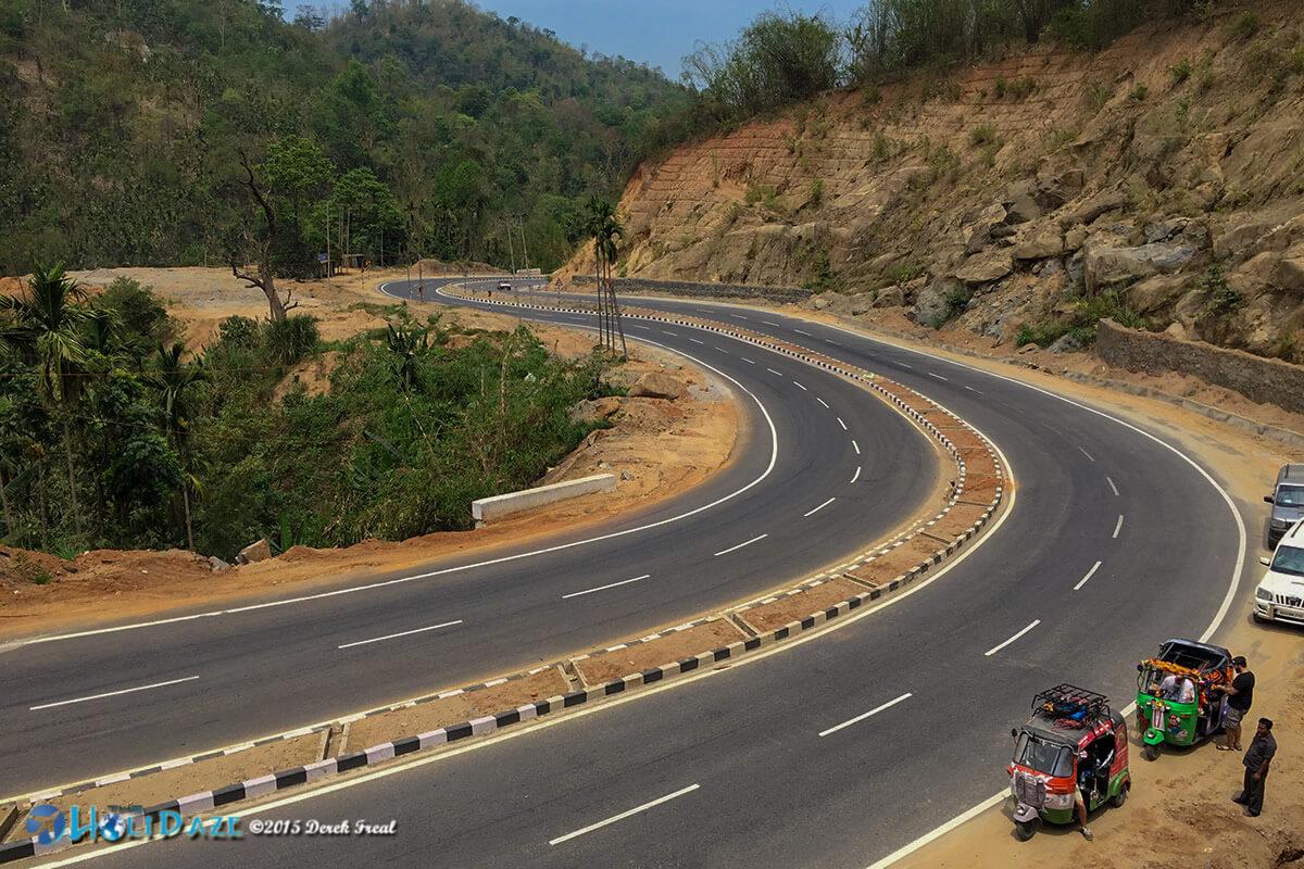 Scenic roads in Meghalya state, India