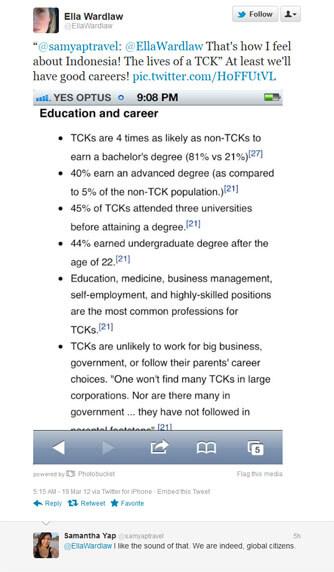 TCK convo on Twitter