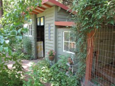 Potting shed/chicken coop and pen