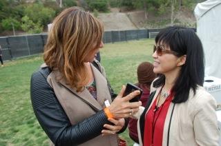 Sheryl interviewing Keiko Matsui