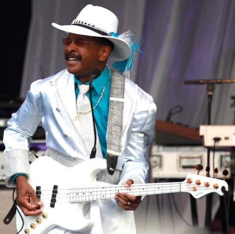 Larry Graham of Graham Central Station jamming on the bass. ( Photo Credit: MIKEY ADAM COHEN AND JACK COHEN OF SMOOTH JAZZ LIVE'S TOP 25 AND ACCESS MEDIA)