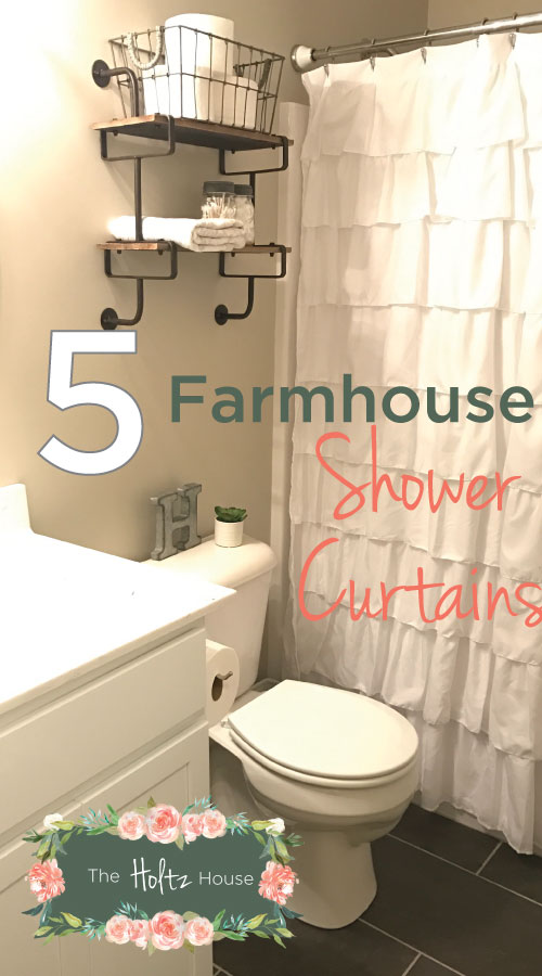 Famous The Best Farmhouse Shower Curtains on a Budget - The Holtz House GP19