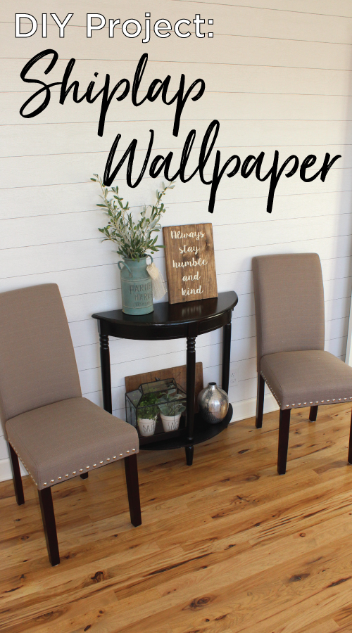 How To Apply Shiplap Wallpaper The Holtz House