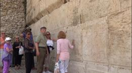 Touching the Western Wall on our May 2016 Tour