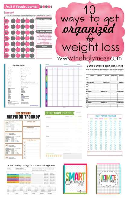 10 Ways to Get Organized for Weight Loss|The Holy Mess