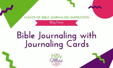 Bible Journaling with Bible Journaling Cards