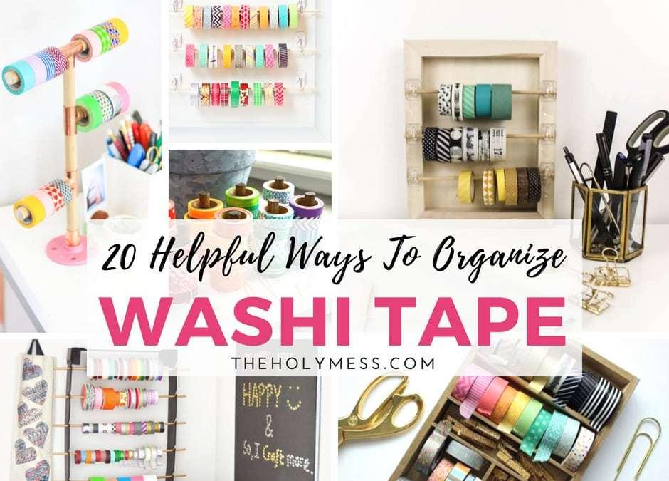 20 Helpful Ways to Organize Washi Tape