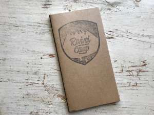 Bible journaling Revival Camp Travelers journal