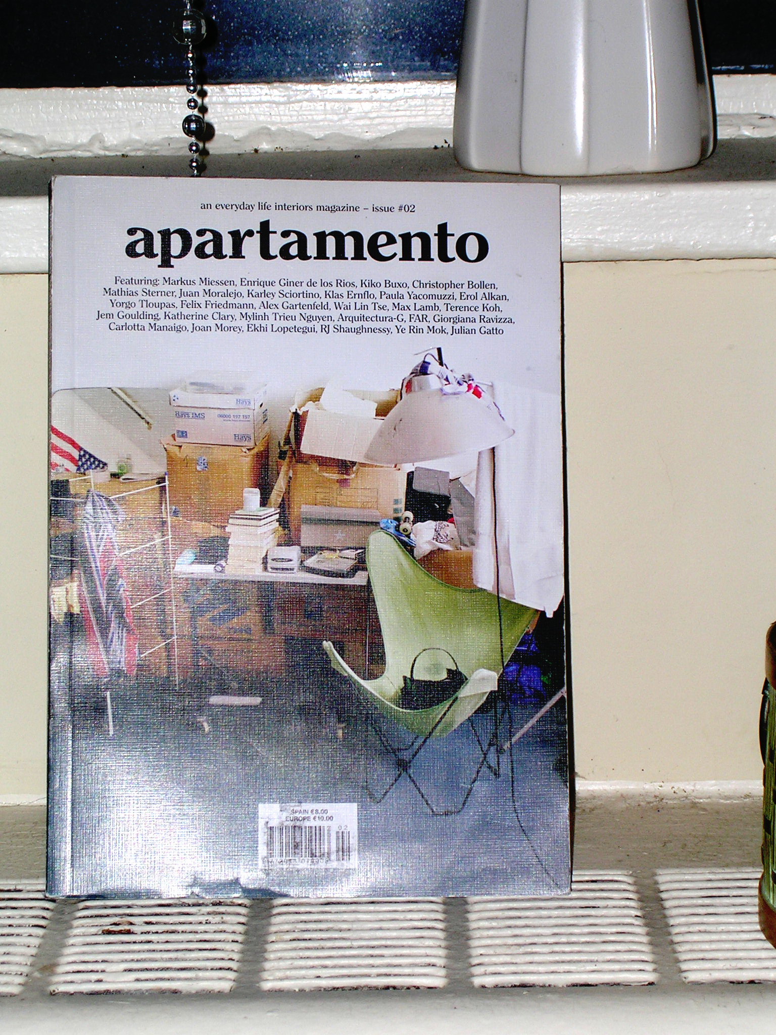 Here's my beloved, already dogeared copy of  Apartamento No. 2. (I'm furiously on the hunt for a copy of issue # 1.)