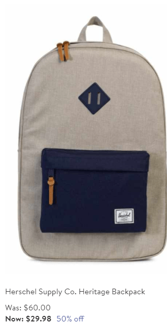 Herschel supply Co Heritage Back pack