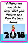 4 strategies to Jumpstart your Newyear as a Home Business owner.