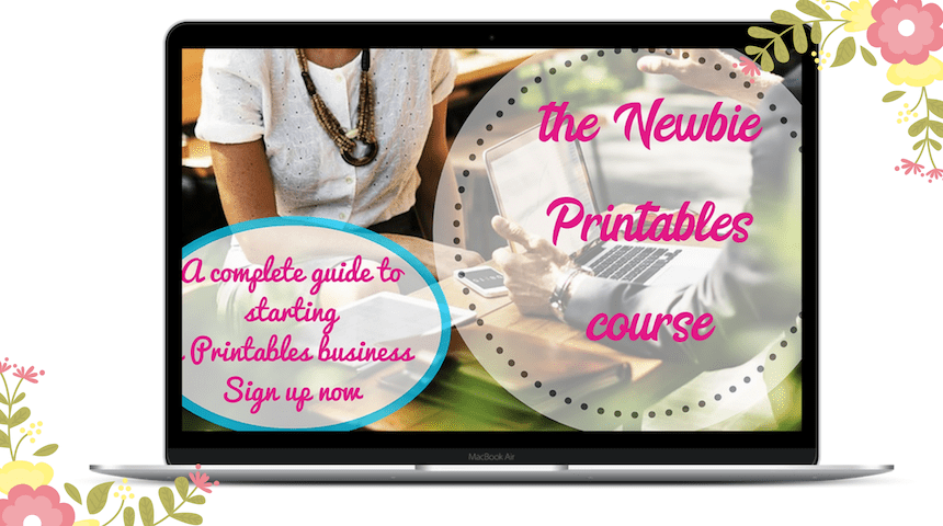 The Newbie Printables Course teaches you how to turn your simple design skills into a home business.