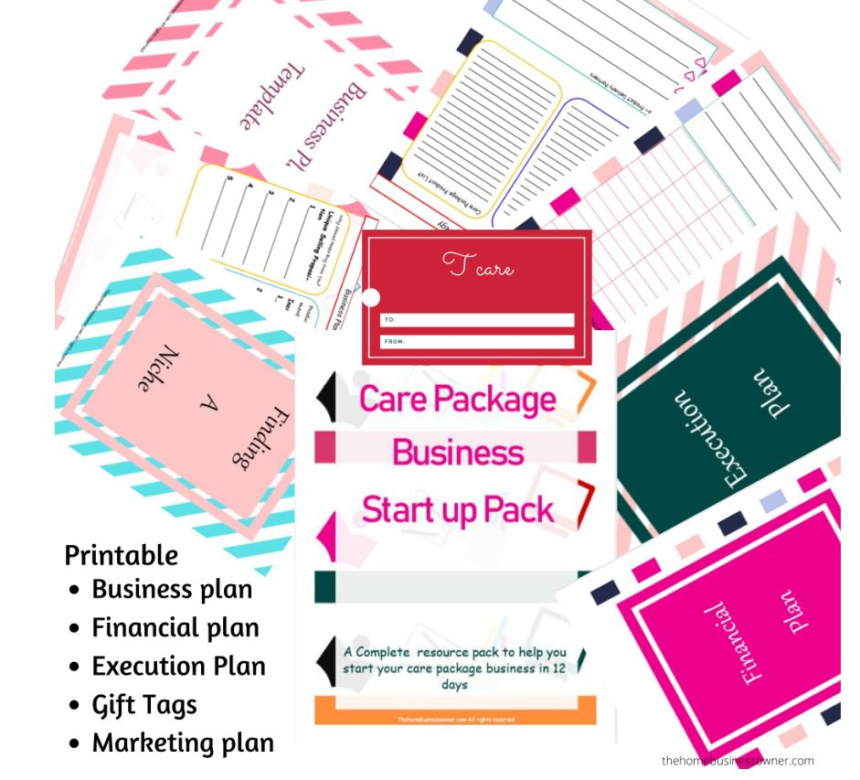 Care package business start up pack