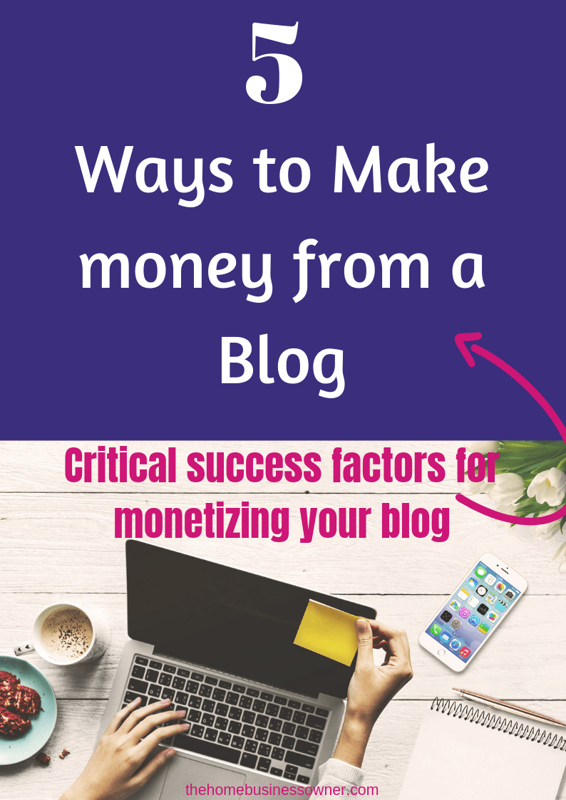 Want to know how to monetize your blog? Read the critical success factors that helps you make money from a blog.