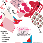 Valentines day gift accessory set