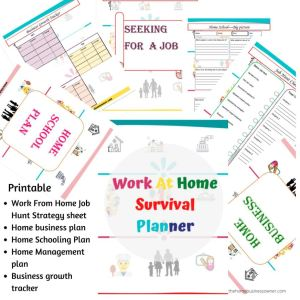 Work from home survival Planner