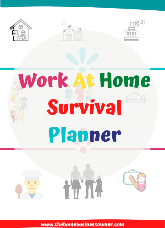 Work from home survival planner- Working from home productivity planner
