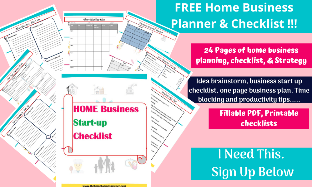 Home business Planner and Checklist