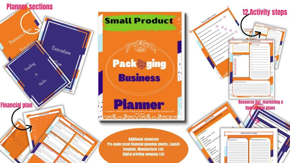 Small Product Packaging Business Planner