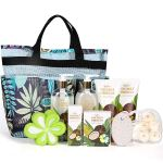 Coconut & Hibiscus Scent Spa Gift Basket for new moms