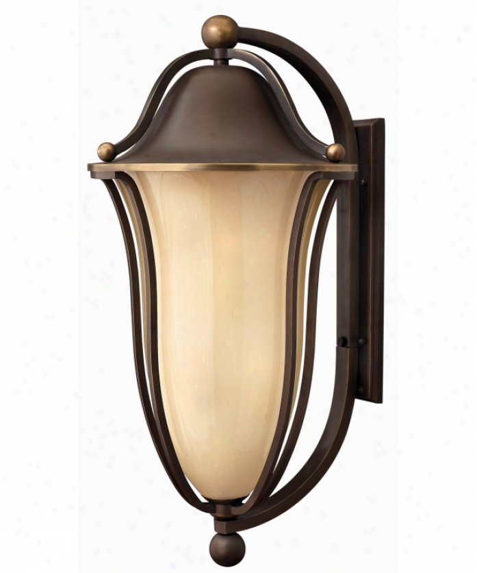 hinkley lighting 2638ob est bolla exterior energy smart 1 light outdoor wall light in olde bronze with light amber seedy glass lamps the home flooring dot com