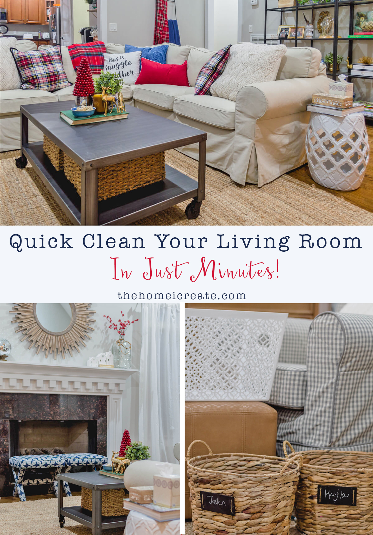 Quick Clean Your Living Room in Just Minutes  The Home I