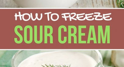 How to Freeze Sour Cream