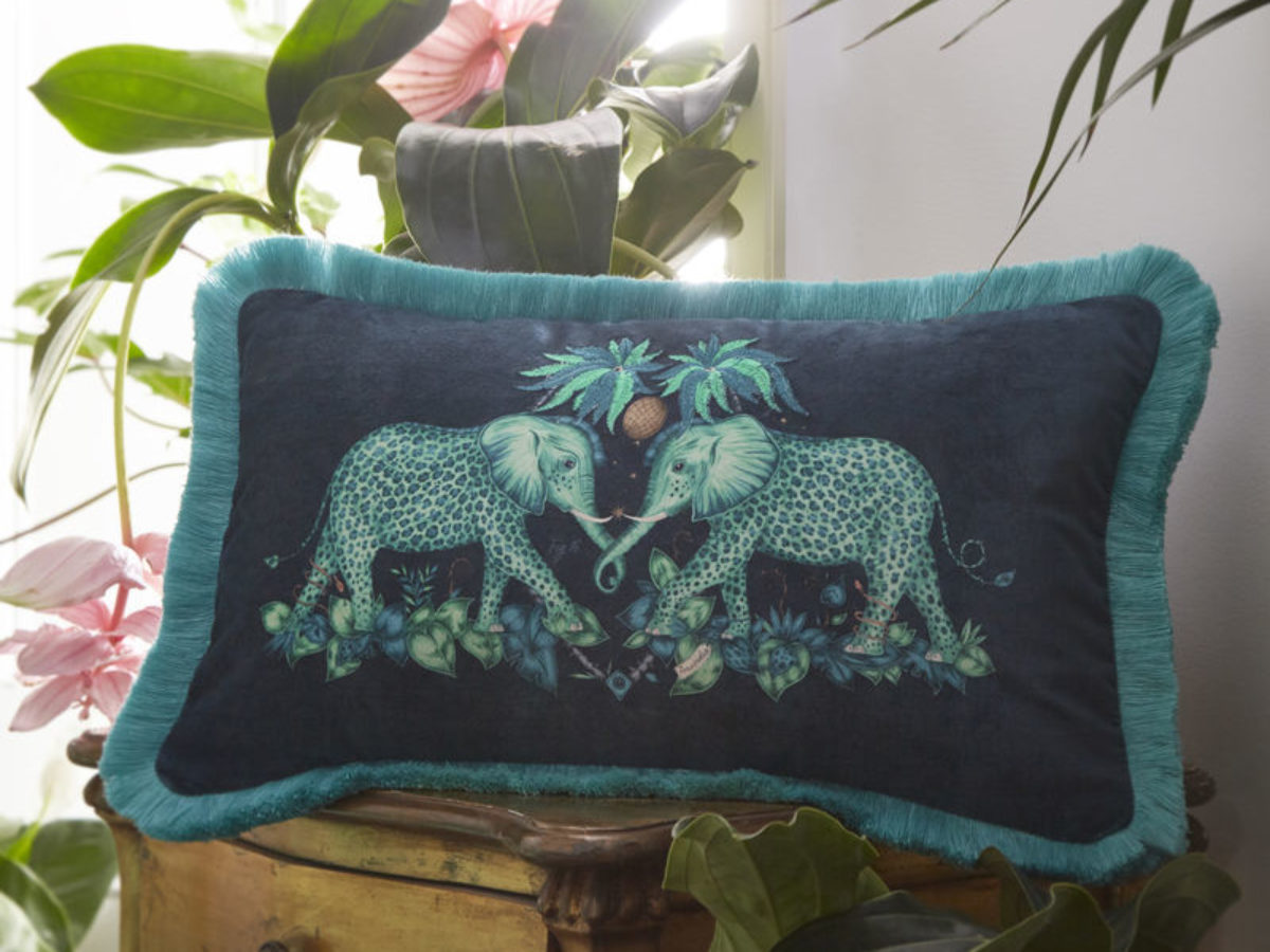 emma j shipley for clarke clarke zambezi rectangle cushion